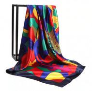 Esarfa eleganta din matase satinata, multicolora, model 39