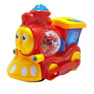 Jucarie ieftina Trenulet cu miscare, sunet si lumini, gen Thomas