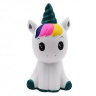 Jucarie Squishy, parfumata, pui de unicorn, curcubeu