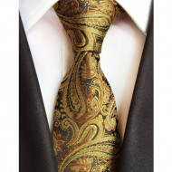 Model 18 - cravata matase naturala 100%, tesatura jaquard + cutie cadou