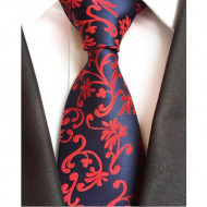 Model 24 - cravata matase naturala 100%, tesatura jaquard + cutie cadou
