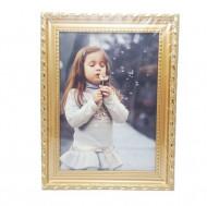 Rama foto ieftina, eleganta, dimensiune 24.5 x 18.3 cm, culoare bronz auriu