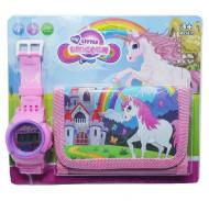 Set Ceas pentru fetite cu portofel, My Little Unicorn