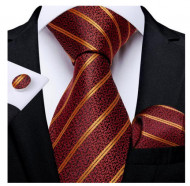 Set cravata + batista + butoni - matase 100% - model 148