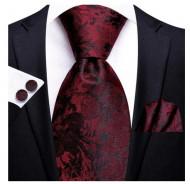 Set cravata + batista + butoni - matase 100% - model 191