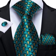 Set cravata + batista + butoni - matase naturala 100% - model 110