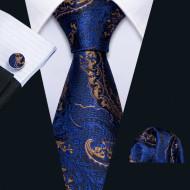 Set cravata + batista + butoni - matase naturala 100% - model 14