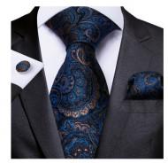 Set cravata + batista + butoni - matase naturala 100% - model 55