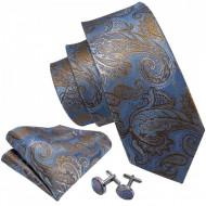 set matase naturala 100% cravata batista si butoni