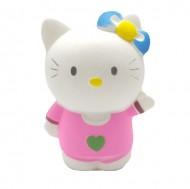 Squishy, jucarie parfumata,Jumbo, model pisicuta cu inimioara si fundita