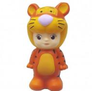 Squishy jumbo, jucarie parfumata, model baietelul tigrisor