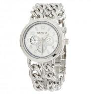 Ceas dama Geneva - Chain Style (Silver)