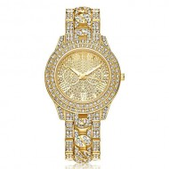 Ceas dama Luxury Full Crystals - Golden