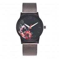 Ceas de dama metalic - Flower style