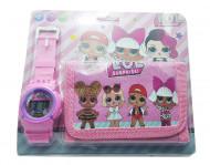 Ceas pentru fetite cu portofel, tip LOL Surprise, Model 2