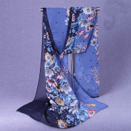 Esarfa eleganta din voal, cu design floral, model 16