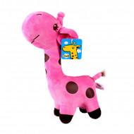 Figurina plus model girafa, culoare roz