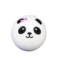 Jucarie Squishy, model ursulet panda cu fundita