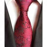 Model 25 - cravata matase naturala 100%, tesatura jaquard + cutie cadou