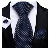 Set cravata + batista + butoni - matase naturala 100% - model 111