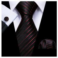 Set cravata + batista + butoni - matase naturala 100% - model 121