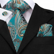 Set cravata + batista + butoni - matase naturala 100% - model 53