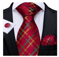 Set cravata + batista + butoni - matase naturala 100% - model 56