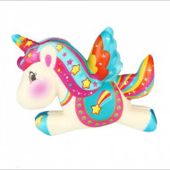Squishy jucarie ieftina parfumata, calut unicorn multicolor - Model 4