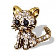 Brosa eleganta cu cristale - pisicuta