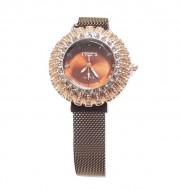 ceas de dama cu cristale si bratara magnetica