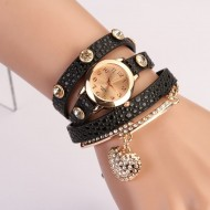 Ceas dama Crystal Heart - black