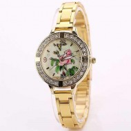 Ceas dama Golden, Roses & Butterfly, fin si elegant