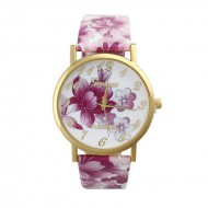 Ceas de dama Geneva Platinum model floral