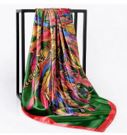 Esarfa eleganta din matase satinata, multicolora, model 41