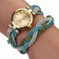 Fancy elegant watch - blue saphire