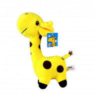 Figurina plus model girafa, culoare galbena