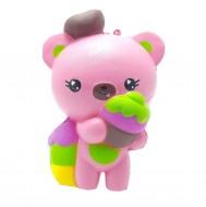 Jucarie Squishy, ursuletul vanzator de inghetata, roz