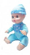 Papusa 'Bebel cel Scumpel' bleu, cu biberon si pampers, in cutie originala