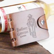 Portmoneu / portofel Baellery, piele - model cowboy / hunter