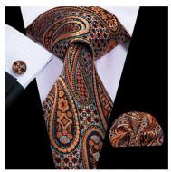 Set cravata + batista + butoni - matase 100% - model 140