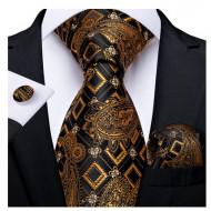 Set cravata + batista + butoni - matase naturala 100% - model 112