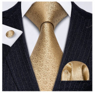 Set cravata + batista + butoni - matase naturala 100% - model 122
