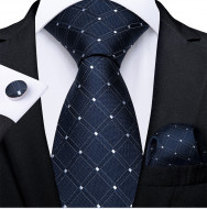 Set cravata + batista + butoni - matase naturala 100% - model 127