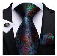Set cravata + batista + butoni - matase naturala 100% - model 48