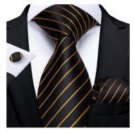 Set cravata + batista + butoni - matase naturala 100% - model 57