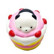 Squishy, jucarie parfumata, Jumbo, model tortulet cu urs panda
