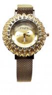 ceas dama elegant ieftin cu cristale si bratara magnetica