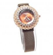 ceas dama cu bratara magnetica si cristale