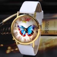 Ceas dama Butterfly Feery - alb