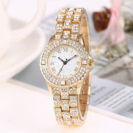 Ceas dama Delicate Full Crystals - golden